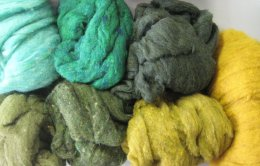 felting batts new green
