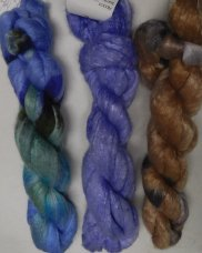 merino bombyx handpainted top colors 3-6