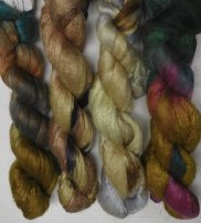 merino bombyx handpainted top colors 7-9