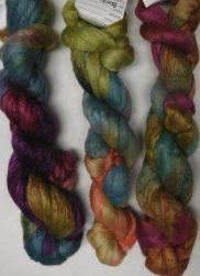 merino bombyx handpainted top colors 14-16